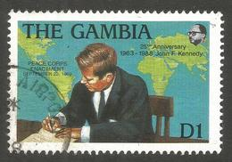 GAMBIA. 1988. 1D KENNEDY USED. - Gambia (1965-...)