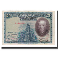 Billet, Espagne, 25 Pesetas, 1928, 1928-08-15, KM:74b, SUP - [ 1] …-1931 : Primeros Billetes (Banco De España)