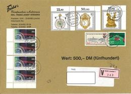 Bund Wertbrief Vom 15.3.1994 Linnich Nach Halberstadt - Storia Postale