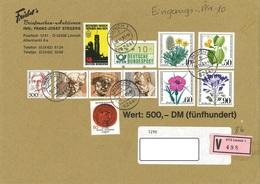 Bund Wertbrief Vom 30.11.1993 Linnich Nach Halberstadt - [7] Repubblica Federale
