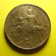France 10 Centimes 1898 Varnished - D. 10 Centimes