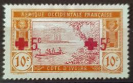 CÔTE D'IVOIRE 1915 - MLH - YT 58 - 10c+5c - Costa D'Avorio (1892-1944)