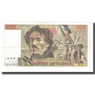France, 100 Francs, Delacroix, 1978, P. A.Strohl-G.Bouchet-J.J.Tronche, TTB - 1962-1997 ''Francs''