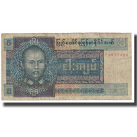 Billet, Birmanie, 5 Kyats, KM:57, TB - Myanmar