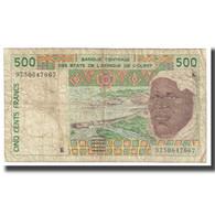 Billet, West African States, 500 Francs, KM:210Bk, TB - États D'Afrique De L'Ouest