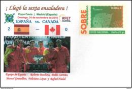 Sobre Prefranqueado Especial Conmemorativo De La Copa Davis De Tenis 2019 - 1931-....