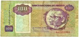 Angola - 100 Kwanzas - 04.02.1991 - Pick 126 - Sign. 16 - Série AA - José Eduardo Dos Santos E Agostinho Neto - Angola