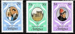 Antigua Scott   623-25 Mint NH VF  Dian Wedding CV 1.30 - 1960-1981 Ministerial Government
