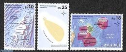 Mauritius 2017 Chagos Archipel 3v, (Mint NH), Maps - Géographie