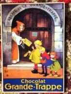 CPM PUB PUBLICITE ANCIENNES CHOCOLAT GRANDE-TRAPPE ABBAYE MOINE PORTE ENFANTS COLLEC AUTHENTIQUES IMAGINAIRES 2006 - Pubblicitari