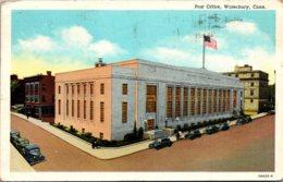 Connecticut Waterbury Post Office 1948 Curteich - Waterbury