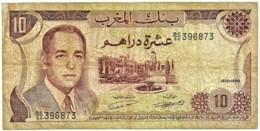 Morocco - 10 Dirhams - 1970 / AH 1390 - Pick 57.a - Sign. 8 - Serie BC/64 - King Hassan II - BANQUE DU MAROC - Marokko