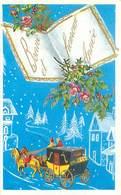 Carte Format 8/13  - Bonne Année  Paysage Attelage H 764 - Año Nuevo
