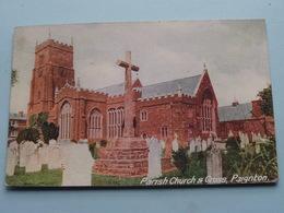 Parish Church & Cross PAIGNTON ( J. Welch ) Anno 1916 ( Zie Foto ) - Angleterre