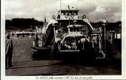"""76-le Canton De  DUCLAIR-serie """"actualites""""DUCLAIR Octobre 1987 Le Bac Et Son Petit .CPSM.G.FROMAGER.. - Duclair"""