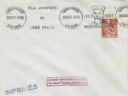1957- Imprimés Oblit. Krag ILLUSTRE De Salon-de-Provence - NOSTRADAMUS - Marcofilie (Brieven)