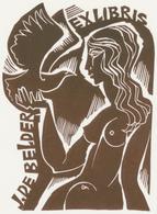Ex Libris J. De Belder - Ladislav Rusek - Ex-libris