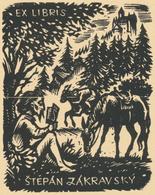 Ex Libris Stepan Zakravsky (Don Quichote) - Hugo Silbersky (1917-2002) - Exlibris
