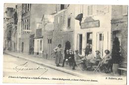 80 SAINT VALERY SUR SOMME LE CAFE DES PILOTES CHIROT-BELLEGUEULE L'APERITIF 1903 CPA 2 CANS - Saint Valery Sur Somme