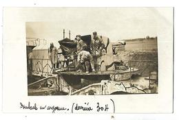 WW1 CARTE PHOTO DES SOLDATS SUR UN CANON DOMBASLE EN ARGONNE CPA 2 CANS - Guerre 1914-18