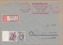 Einschreiben Aus Freiburg Nach Chemnitz - Gerling-Lebensversicherungen 1947 - American/British Zone