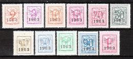 PRE736/46**  Chiffre Sur Lion - Année 1963 - Série Complète - MNH** - LOOK!!!! - Préoblitérés