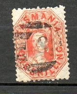 TASMANIE - 1875 - S&G # 141  (o)  Orange-red   P11.5   W4 Double-lined - 1853-1912 Tasmania