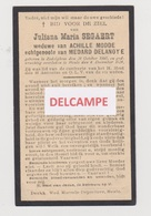 DOODSPRENTJE SEGAERT JULIANA WEDUWE MODDE ECHTGENOTE DELANOYE ZEDELGEM HEULE 1860 - 1924   BEWERKT TEGEN KOPIEREN - Santini