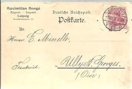 POSTKARTE   LEIPZIG 1908 - Covers & Documents