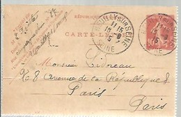 CARTE-LETTRE 1915  NEUILLY - Enteros Postales