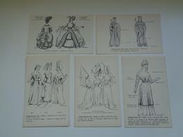 "Beau Lot De 9 Cartes Postales De Fantaisie "" Costume Féminin ""   Mooi Lot 9 Postkaarten Van Fantasie   -  9 Scans - Postkaarten"