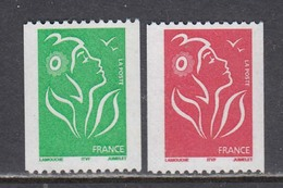 France 2005 - Serie Courante:Marianne(Lamouche), 2 V.,YT 3742/43, Neufs** - Unused Stamps
