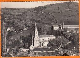 """11  CHALABRE  Aude   """" L'église St-Pierre """"   CPSM Postée Le 16 7 1956   Num 4   EN AVION AU DESSUS DE... - France"""