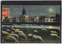31241 . TOULOUSE .L EGLISE DE N. D. DE LA DALBADE ET LE QUAI DE TOURNIS . CIRCULEE 1912 - Toulouse