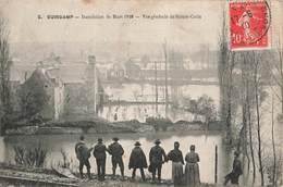 22 Guingamp Inondations Inondation 1910 Vue Générale De Sainte Croix - Guingamp