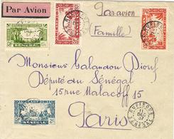 1937- Enveloppe PAR AVION De Rufisque Pour Paris -affr.  à 4 ,65 F ( Dont 1,25 P A N°4 ) - Sénégal (1887-1944)