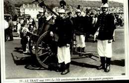 """76-CANTON DE DUCLAIR  Serie """"actualites"""" LE TRAIT Mai 1991 Le 50e Anniversaire Des Sapeurs Pompiers   CPM.G.FROMAGER - Le Trait"""