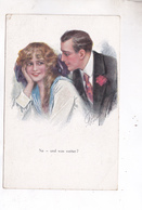 CPA ILLUSTREE COUPLE En 1921 - Phantasie