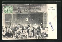 AK Native Coffee House, Araber Im Cafe - Völker & Typen