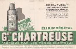 VP-GF.19-RO 026 : BUVARD. ELIXIR DE LA GRANDE CHARTREUSE VOIRON ISERE. - Löschblätter, Heftumschläge