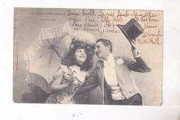 CPA  UN COUPLE, LES PETITS JOYEUX En 1905! - Phantasie
