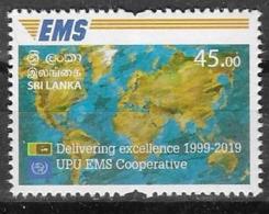 SRI LANKA, 2019, MNH,  EMS, UPU EMS COOPERATION,  1v - Correo Postal