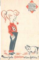 VP-GF.19-RO 034 : BUVARD. PRODUITS BOVIDA MAM'ZELLE BOVIDA ET SON FETICHE. COCHON. PORC. - Blotters