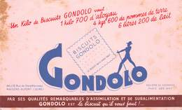VP-GF.19-RO 040 : BUVARD. BISCUITS GONDOLO. - Löschblätter, Heftumschläge
