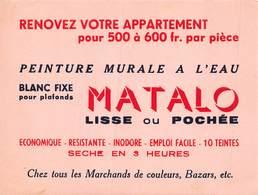 VP-GF.19-RO 049 : BUVARD. PEINTURE MURALE A L'EAU MATALO. - Löschblätter, Heftumschläge