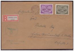 GG (007774)  Einschreiben Mit DM MNR 11 Und 12 Gelaufen Am 11.12.1940 Demblin/ Gr. Posten Irena Mit Dienststempel - Occupation 1938-45