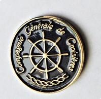 Pin's Compagnie Générale De Croisières Gouvernail - Bateau - PA/CE - Barcos