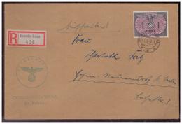 GG (007775)  Einschreiben Mit DM MNR 13 Gelaufen Am 11.12.1940 Demblin/ Gr. Posten Irena Mit Dienststempel - Besetzungen 1938-45