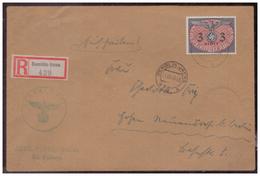 GG (007776) Einschreiben Mit DM MNR 14 Gelaufen Am 11.12.1940 Demblin/ Gr. Posten Irena Mit Dienststempel - Besetzungen 1938-45