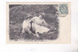 CPA COUPLE IDYLLE GASCONNE En 1904! - Phantasie